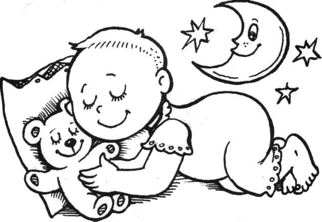 Картинки раскраски с изображением ребёнка